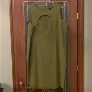 Green open chest dress